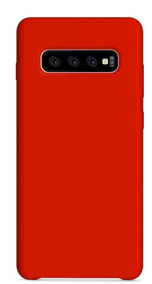 acheter Coque Silicone Samsung S10 Plus, noir , rouge