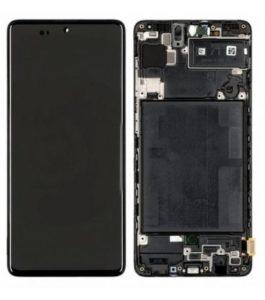 acheter Écran Samsung Galaxy A71 (A715F) Noir + Châssis D'origine